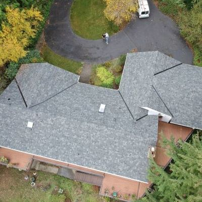 A Roof With New Shingles.